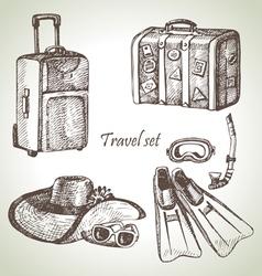 Travel set hand drawn vector
