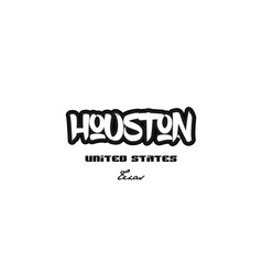 United states houston texas city graffitti font vector