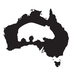 wombat silhouette vector image