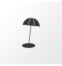 beach umbrella icon symbol premium quality vector image