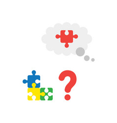 concept of blue yellow green and missing piece vector image