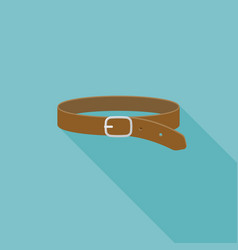 leather belt icon vector image vector image