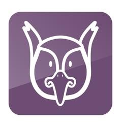 Pheasant icon Animal head vector image vector image