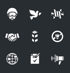 set of peacemaker icons vector image