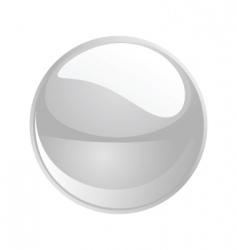 shiny sphere 02 white vector image