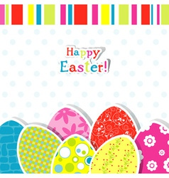 template egg greeting card vector image