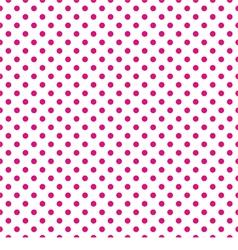 Tile pattern pink polka dots on white background vector image
