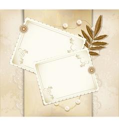 vintage greeting card vector image