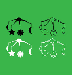 360 degrees rotating hanging rattles baby icon vector image