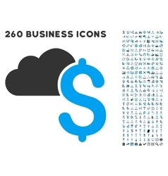 Cloud Banking Icon with Flat Set vector image vector image