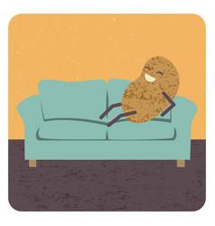 Concept couch potato vector