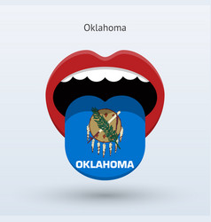 Electoral vote of oklahoma abstract mouth vector