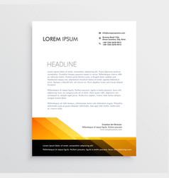 Modern orange and black letterhead template design vector
