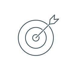 thin line target icon vector image