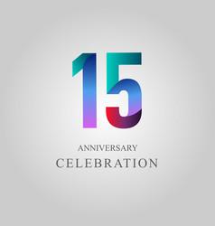 15 year anniversary celebration template design vector image