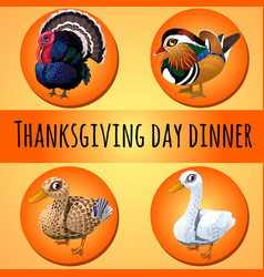 a poster on the theme of the traditional dinner vector image