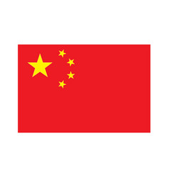 Accurate correct flag of china vector