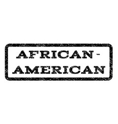 african-american watermark stamp vector image
