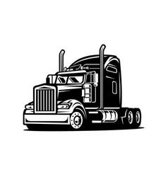 american semi truck images vector image