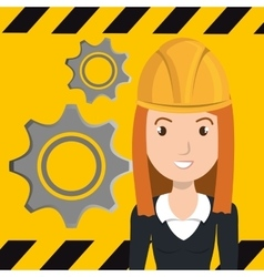 Avatar construction worker vector