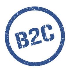 B2c stamp vector