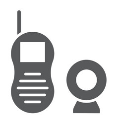 baby monitor glyph icon child and equipment vector image