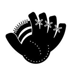 Baseball glove sport pictogram vector