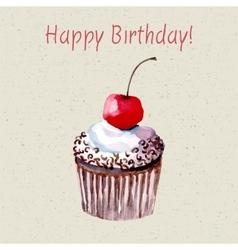 Beautiful happy birthday card vector