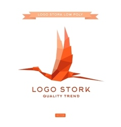 Bird the style polygon low poly flat trend vector