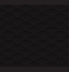 black seigaiha luxurious japanese wave pattern vector image