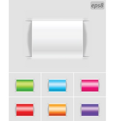 blank labels vector image