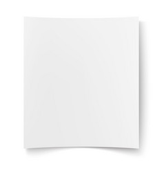 Blank white paper empty poster placard vector