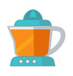 Blue colored juicer vector