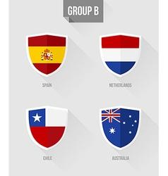 Brazil Soccer Championship 2014 Group B flags vector image