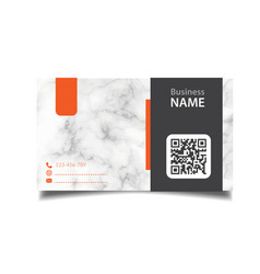 business card marble background image vector image