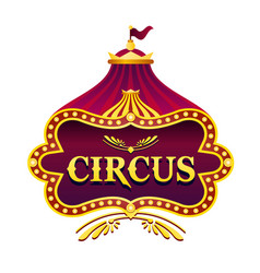 Circus light emblem sign vector