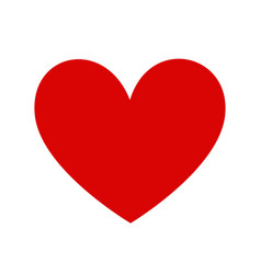 classic red heart template vector image