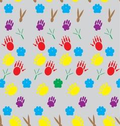 Color pattern footprints various mammals vector