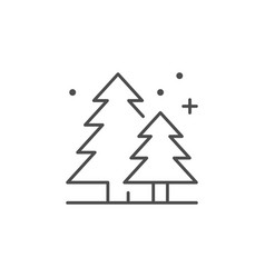 coniferous forest line outline icon vector image