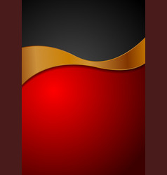 contrast red black background with bronze wave vector image