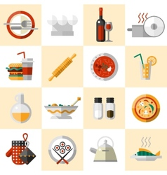 Cooking Food Icons Set vector