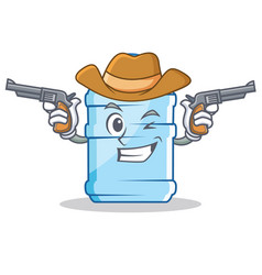 Cowboy gallon character cartoon style vector
