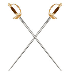 Crossed infantry swords vector