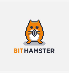 cute and fun cartoon mascot hamster logo icon vector image