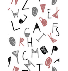 cute english hand written alphabet vector image