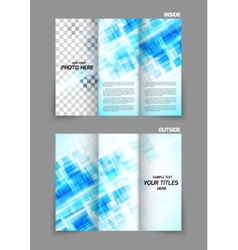 Digital tri-fold brochure with squares vector