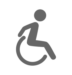 Disability man pictogram flat icon isolated on vector image