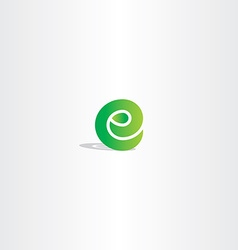 eco green letter e logo sign element logotype vector image
