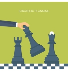 ector Flat header Chess Management vector image