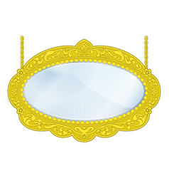 Fancy boutique mirror vector